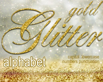Digital Golden Glitter Alphabet, Digital Lettering, Glitz Printable Lettering, Digital Download, #68