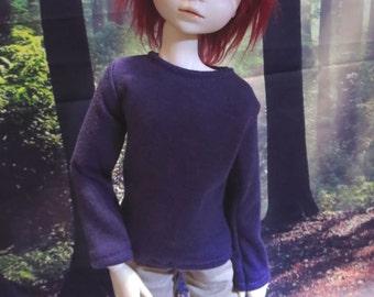 Purple Long Sleeve 45cm Shirt BJD MSD