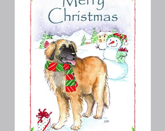 Leonberger  Christmas Cards Box of 16 Cards & Envelopes