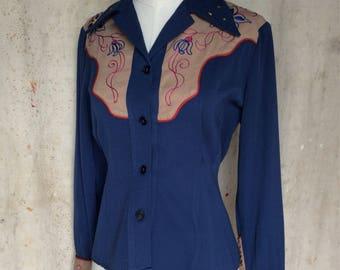 1940s Ladies Western Shirt * Vintage Westernwear * Cowgirl