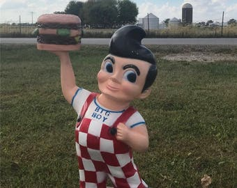 Bob's Big Boy Statue Advertising Sign Gas Station Pump Oil Hot Rod Restaurant a, Bob's Big Boy Restaurant