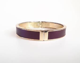 1980's vintage bracelet 80's purple bangle 1980's vintage bangle gold plated bracelet ladies 80's bangle 80's costume jewellery