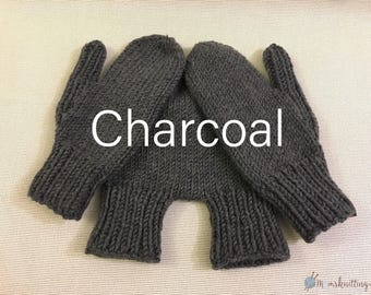 Hand Knit Solid, Hand Holding Mitten for Two, Lovers Mitten Winter Knit, Couples Mitten, Warm Knit Mittens