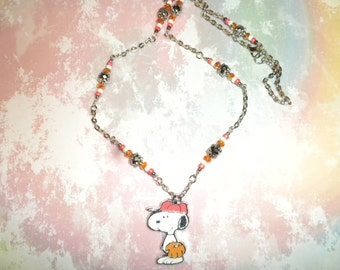 Snoopy Baseball Chain Necklace