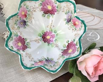 VINTAGe - Floral Bowl - Mid Century
