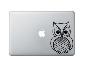 Owl Laptop Decal - Owl Macbook Decal - Laptop Sticker