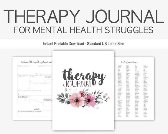 Therapy Journal for Mental Health Struggles: Depression