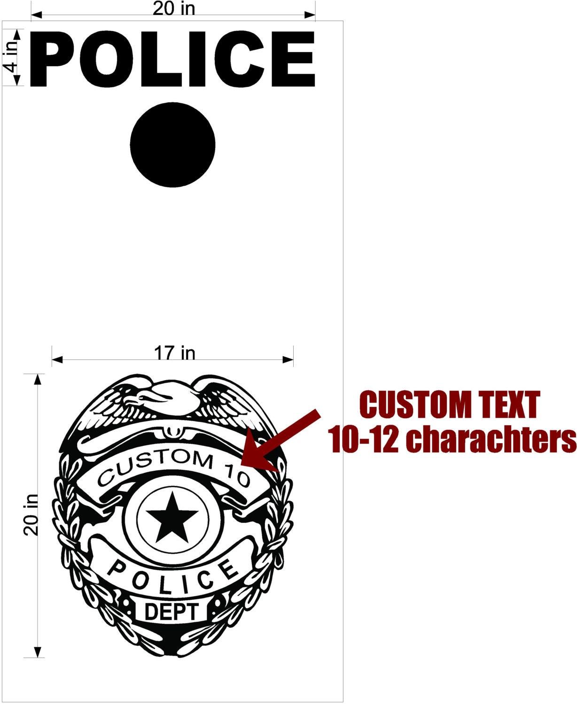 police public safety cornhole boards