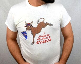 Vintage 1988 80s Republican National Convention Atlanta Tee Shirt - Dukakis Clinton Bernie Sanders