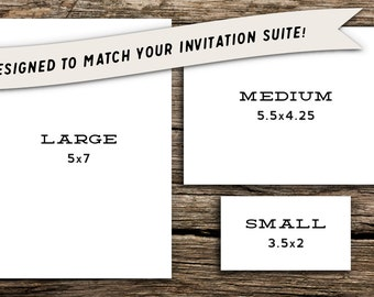 Small Add-On Card for Factory Made Invitation Purchases // Use for Wedding Website, Registry, Rehearsal Dinner, Reception Address, Etc.