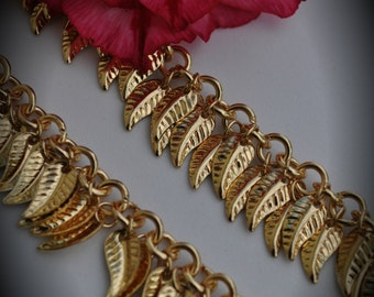18 Inches Gold Plated Leaf Chain