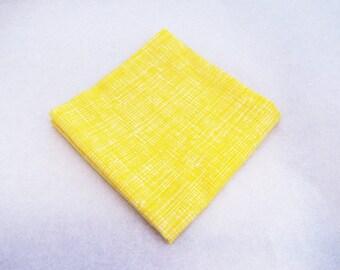 Men's Pocket Square - Butter Crosshatch