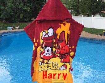Mixels Infernites Hooded Poncho Bath Beach Pool Towel - Personalized