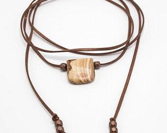 Leather Wrap Necklace, Choker wrap, Suede wrap Choker, Bohemian Choker, Lariat, Boho Lariat wrap, Bolo wrap Choker, lariat, Choker Necklace