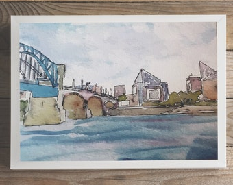 5x7 PRINT- Market Street Bridge, Chattanooga