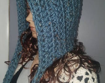 Chunky blue fairy hat