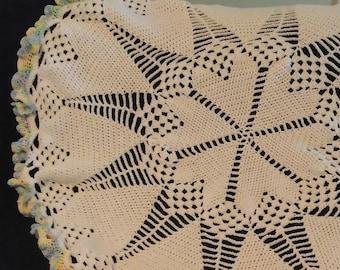 Crochet Round Heart Baby Blanket