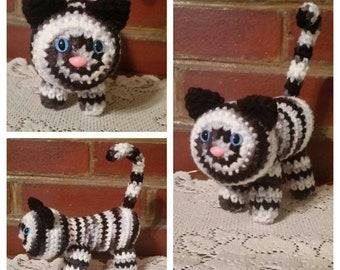 Stuffed Cat Hand Crocheted