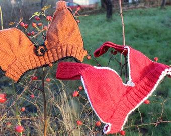 Knitted bra