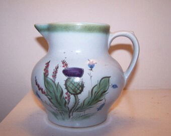 Buchan of Portobello, Stoneware Pitcher, Scottish Thistle, 24 oz Pitcher, Buchan 61 28 M2M50, Pottery Jug, Scottish Pottery, Stoneware Jug