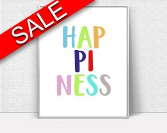 Wall Art Happiness Digital Print Happiness Poster Art Happiness Wall Art Print Happiness Nursery Art Happiness Nursery Print Happiness Wall