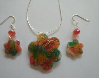 Multicolored Polymer Clay Jewelry