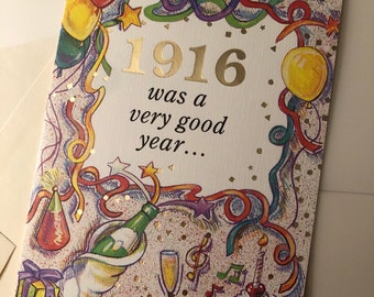 Birthday card for the year of 1916