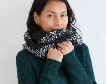 Gray & White Everyday Circle Scarf