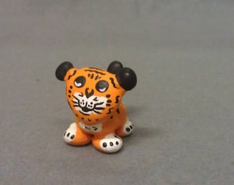 Orange and Black  Tiger Look  Cat Figurine