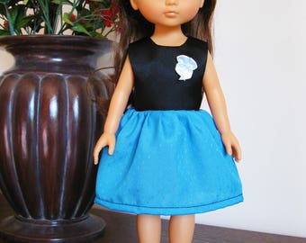 """Handmade Doll Clothes Dress fits 13"""" Corolle Les Cheries Dolls Handcraft 9"""