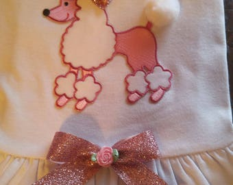 Pink Poodle Dog Dress