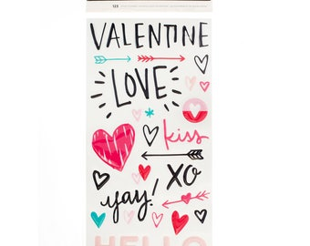 Crate Paper Hello Love Phrase Thickers -- MSRP 5.00