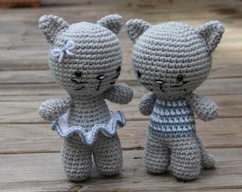 Crochet Cat, Crochet Kitten, Amigurumi Cat, Amigurumi Kitten, Stuffed Cat, Stuffed Kitten, Toy Kitten, Toy Cat, Toy Kitty Cat, Plush Kitten