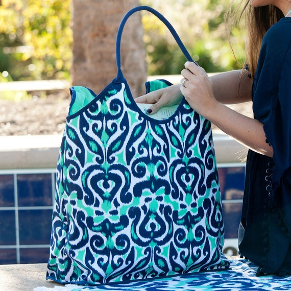 Blue Luna Lagoon Beach Bag