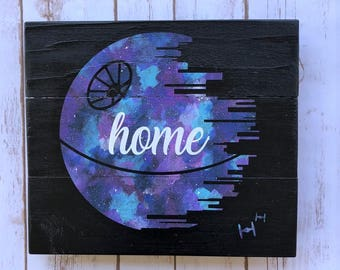 Death Star Inspired Home 10.5x12 Sign