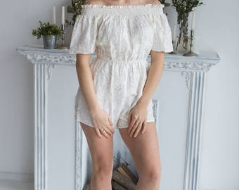 Off Shoulder Bridal Romper from my Paris Inspirations Collection