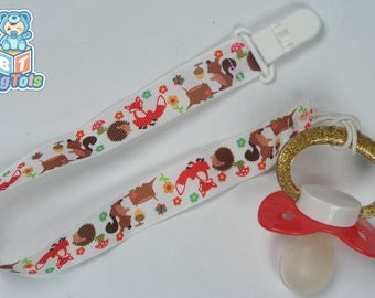 Adult Baby Forest Animals  pacifier  clip ABDL