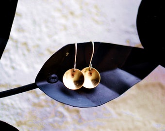 Golf filled Sun earrings