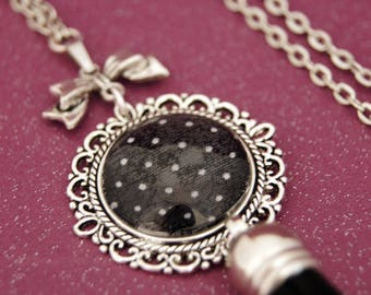 VINTAGE BLACK - SA011 DOTS NECKLACE