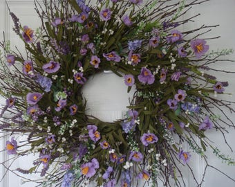 Spring wreath, Mothers Day wreath, summer wreath, front door wreath,spring door wreath, housewarming wreath,spring decoration, Mothers Day