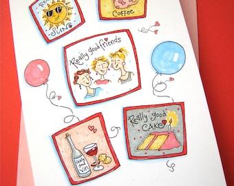 Really Good Birthday Card - Friend Birthday - Women Birthday - Girlfriends Birthay Card