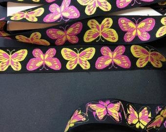 Butterfly Ribbon, 3 yards of Butterfly Ribbon, Butterfly, Butterflies