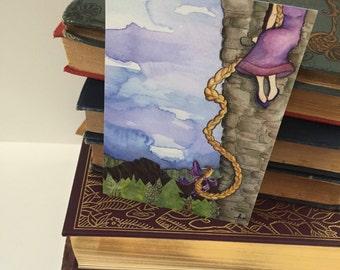 RAPUNZEL mini luxe faerie tale feet print halthegal fairy tale tangled princess art