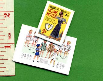 1940's LADIES MAGAZINE  Dolls house miniatures 12th scale