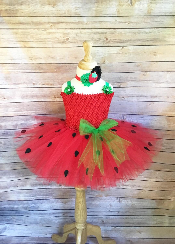 Erdbeer-Kostüm Erdbeere Tutu Erdbeer-Kleid Mädchen