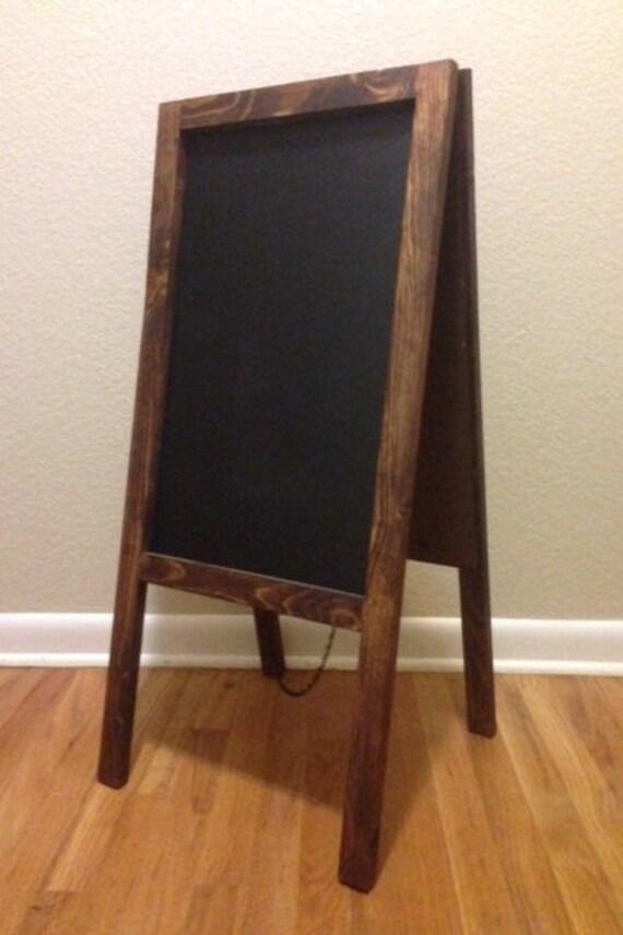 rustic chalkboard easel sandwich board double sided a frame. Black Bedroom Furniture Sets. Home Design Ideas