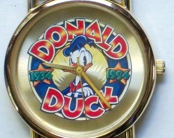 Disney Retired Anniversary Donald Duck Watch! New! Rare!
