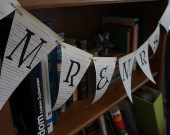 Harry Potter Book Page Banner, Pennant, Bunting for Wedding or Bridal Shower