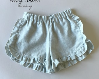 SAMPLE SALE - Cecily Shorts in Chambray - Size 4