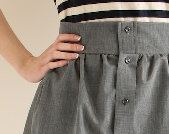 Custom Women's Button Down Skirt from Men's Dress Shirt - Upcycled skirt, womens skirt